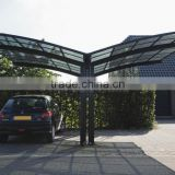 XINHAI Aluminum Parking Awning,Polycarbonate Car Parking Shelter,Double Plastic Carport Canopy