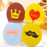 cheap decorative small pocket silicone mirror for make-up
