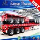 Online shopping Aotong Brand New transporting truck 40' flatbed deck container semi trailer for sale