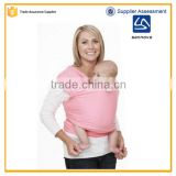 2016 Hot sale multi color distribution soft popular baby sling ring,safe baby sling carrier