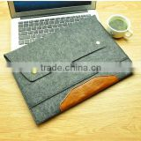 felt Leather book shaped laptop bag for macbook and macbook pro custom hard laptop case hard shell laptop case