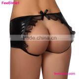 Black Women Open Back Size Leather Ladies Lace Pants