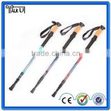 Ultra-light adjustable telescopic aluminum hiking walking stick trekking pole alpenstock
