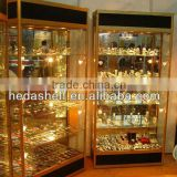 used glass jewelry display cases
