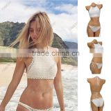 OEM&ODM SEXY HALTER TOP CROCHET KNIT MONOKINI LINED SWIMWEAR SWIMSUIT BIKINI NEW ONE PIECE SWIMSUIT                                                                         Quality Choice