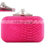 EV3048 Red snake skin box hard shell clutch bags for fashion womens evening bag                                                                         Quality Choice