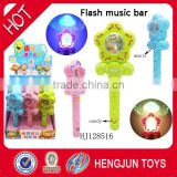 hot selling China soft candy toy factory plastic surprise Waybuloo flowers music light bar 12 pcs