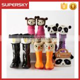 A-536 cute animal boot toppers cuffs funky animal knit boot covers animal pattern leg warmers