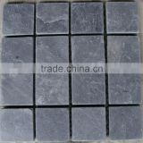 natural split surface finishing and cut-to-size stone form black slate stone tile bulk wholesale tumbled stones