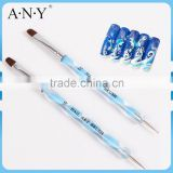 ANY Nail Art Design Painting Oval Brush Plus Dotting Tip 2 Sides Nail Brush