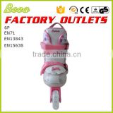Beca wholesale pink aggressive pvc wheel adjustable roller skate
