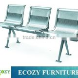 Bench for waiting room, airport modular seating system, stainless steel seats