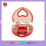 Heart-shaped Popular Luxury Packaging Box For Jewelery & Small Sizes Wedding Jewelery Box For Lady