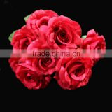 High quality decorative artificial flower silk rose wedding bouquets flower with twelve heads rose flowers artificial wedding