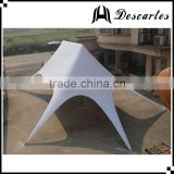 Pure white double peak star marquee tent/80 person carnival tents for party