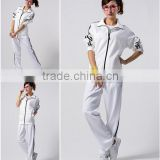 ladies casual sportswear tracksuits wholesale white women tricot jacket