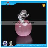 HJT crystal craft christmas apple decorations with tree