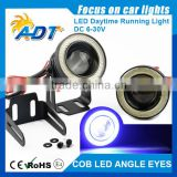 "2016 hot sale Car 3.5"" 30W White LED COB Fog Light Lamp Projector Lens Angel Eye Ring"