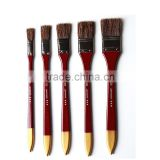 Art Supply Oil Acrylic Watercolor Painting Brush Pen Flat Boar Bristle Paint Brush Set 5pcs