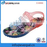 new style Women's Maryja slippers/sandals printing jelly shoes thick bottom slope Clogs
