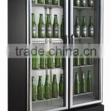 supermarket appliance beer cooler and beer refrigerators double door refrigerator with CE,LVD,EMC,CB