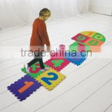 Giant garden hopscotch EVA game floor puzzle mat for kids