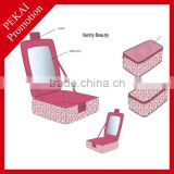 Beautiful bulk cosmetic bag wholesale with mirror
