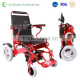 Lightweight foldable electric power travel wheelchair