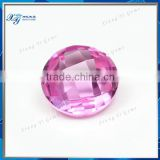 Wuzhou factory 8mm grade AAA round shape popular ruby machine cut double faceted 2# pink ruby natural corundum price