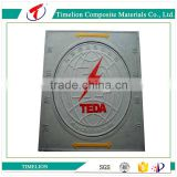 corrossion resistant composite manhole sewer cover with hinge and lock