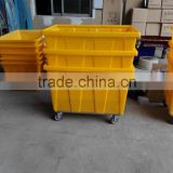moveable box container with wheels for laundry or chemical industry( stackable)