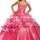 Best sellers beaded ball gown red pageant puffy flower girl dress CWFaf5266