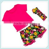 New arrive children casual short sleeve clothing set girl's 2pcs summer girls outfit kids clothes baby garment design