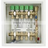 water heating Manifolds for Floor Underfloor Heating System, High Quality Brass Manifold,Brass Water Manifold