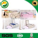 Eco-Friendly good quality custom printed foldable non woven storage Box and Bin with two lids