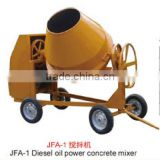 Small cement mixer JFA-1 movable diesel engine used in Africa concrete blender for brick machine price in Ghana