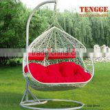 TG15-0151 Outdoor 2 seat synthetic rattan adult hanging chair
