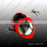 "Heart shape Mini 1.5"" LCD Digital Photo Picture Frame Key Chain Keychain + USB Cable"