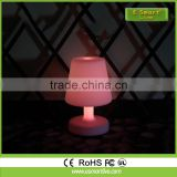led color changing rechargable light table lamp