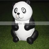 Home garden seats christmas decorative 30cm Height small artificial white and black fiberglass chinese flat Panda E10 28X01