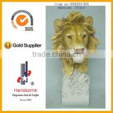 Resin Artifical Animal Lion Head Statues