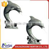 Grey bronze dolphin water fountain used for decoration NTBF-001LI
