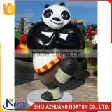 Customize fiberglass kungfu Panda sculpture for decoration NTRS-085LI