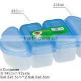 4pcs mini container food storage plastic box
