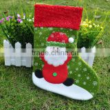 New premium reindeer snowman Santa Claus embellished polyester Xmas sock hangers felt animated Christmas stocking for holiday