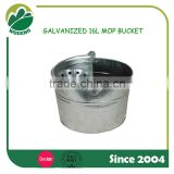 16L Galvanized steel plate Metal Cleaning Mop Bucket