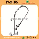 2016 Chrome Commercial Style Pot Filler Kitchen Faucet with Rre Rinse Spray