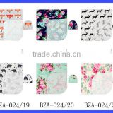 70*90 Cm Cheap One Layer Muslin Baby Swaddles Floral Print Picnic Blankets Wholesale Baby Blanket With Match Beanie