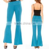 High Fashion Office Trousers High Waist Palazzo Bell Bottom Pants Regular Plus Size Sexy Body Fit Pants Online Shopping