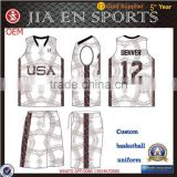 Sublimation New Zealang national team basketball wear for junior, custom jerseys basketball uniforms for youth